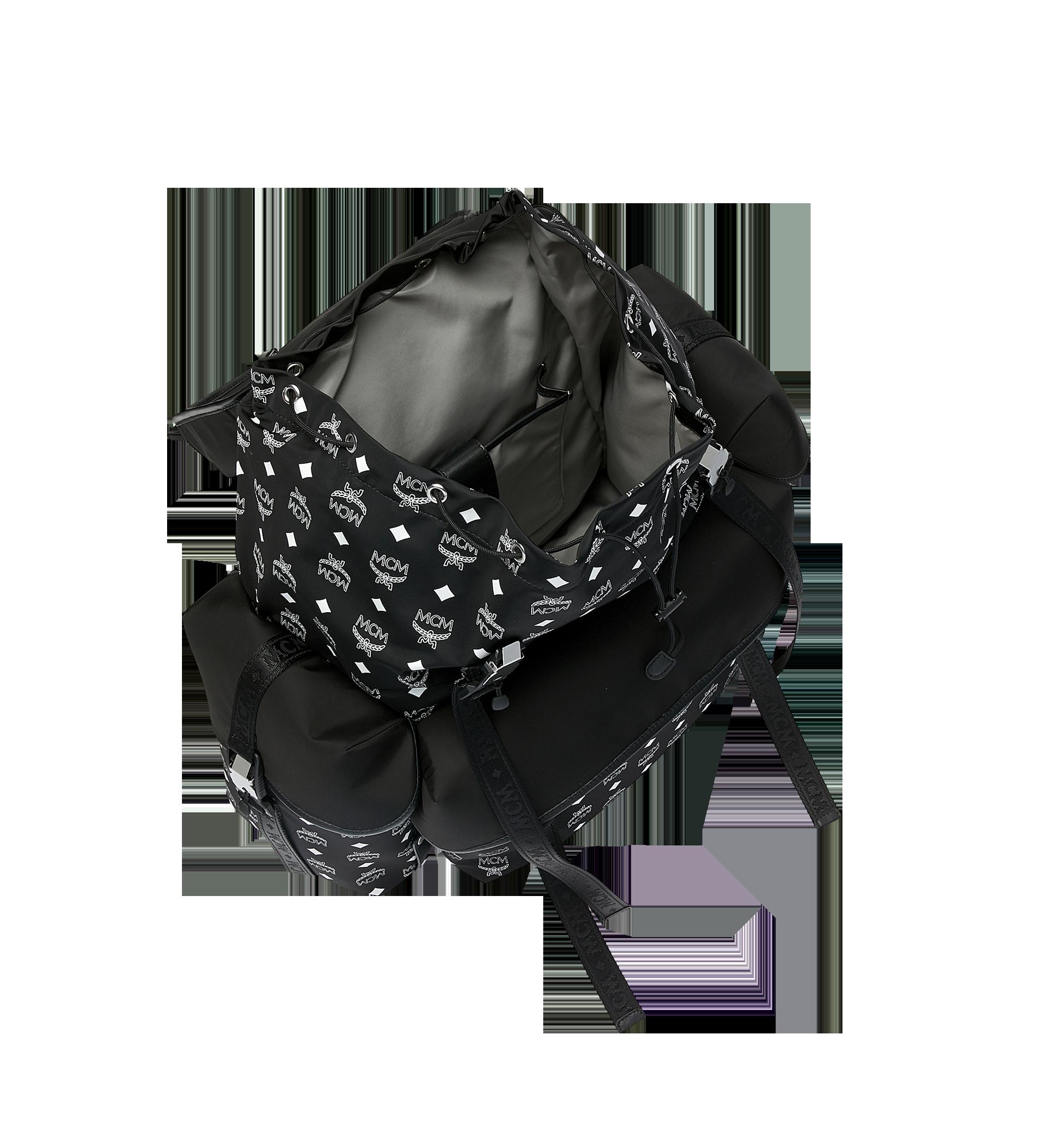 MCM Luft Multi-Pocket Backpack in Nylon Black MMK9SNX30BK001 Alternate View 5