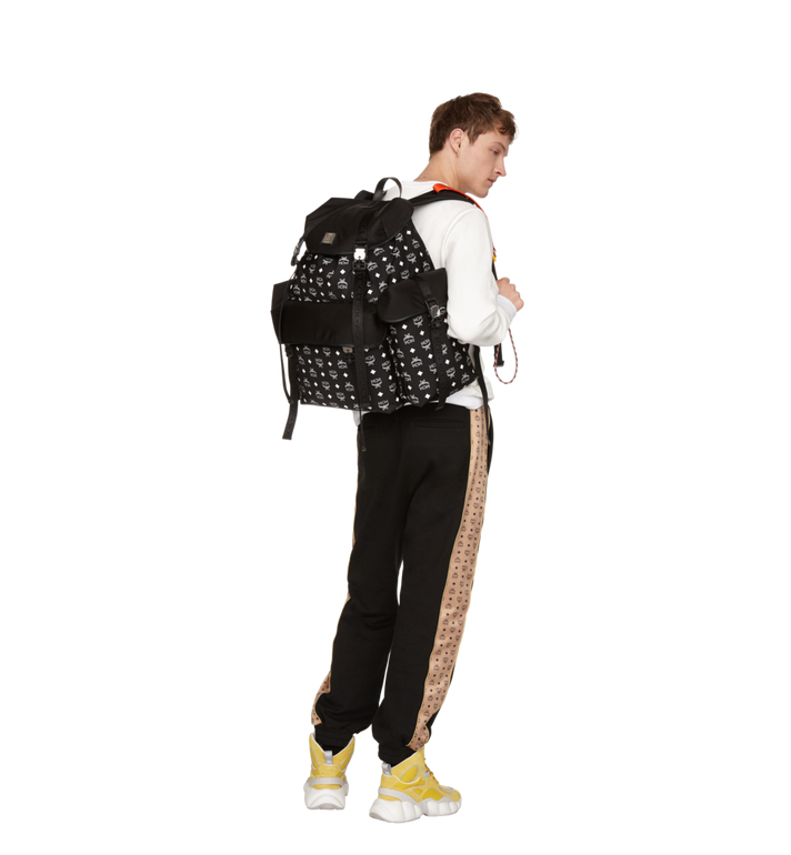 MCM Luft Multi-Pocket Backpack in Nylon Black MMK9SNX30BK001 Alternate View 6