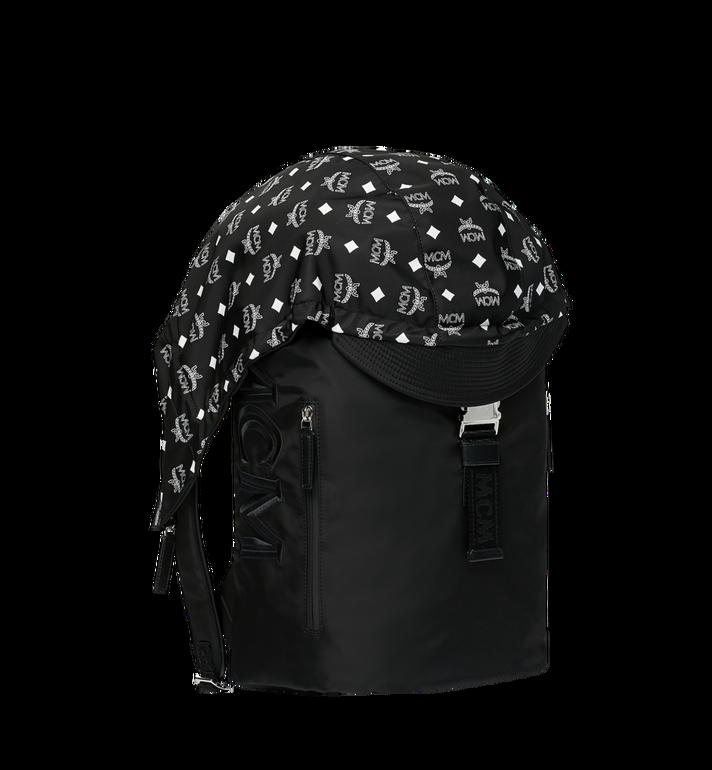 MCM Luft Hoodie Backpack in Nylon Black MMK9SNX34BK001 Alternate View 2