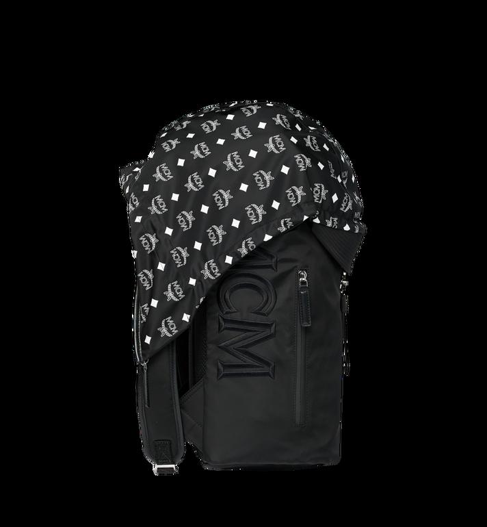 MCM Luft Hoodie Backpack in Nylon Black MMK9SNX34BK001 Alternate View 3