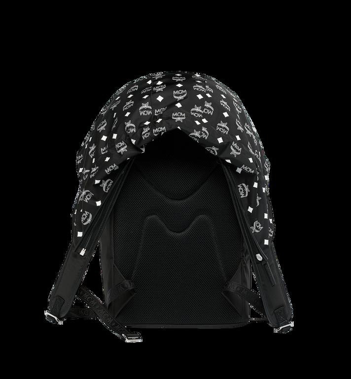 MCM Luft Hoodie Backpack in Nylon Black MMK9SNX34BK001 Alternate View 4