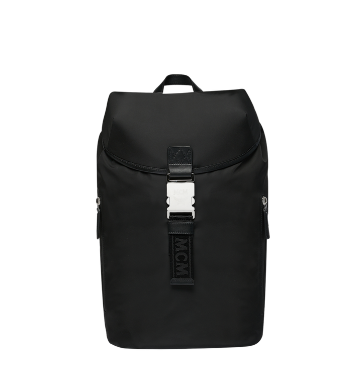 MCM Luft Hoodie Backpack in Nylon Black MMK9SNX34BK001 Alternate View 5