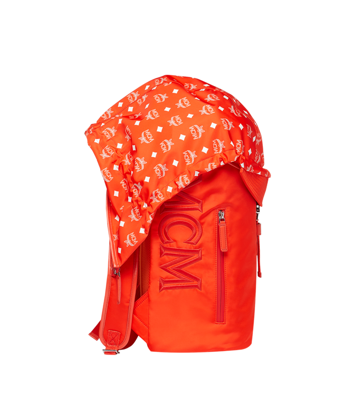MCM Luft Hoodie Backpack in Nylon Orange MMK9SNX34OX001 Alternate View 3