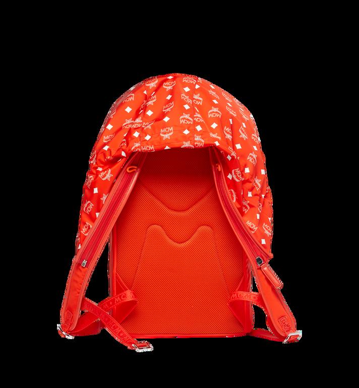 MCM Luft Hoodie Backpack in Nylon Orange MMK9SNX34OX001 Alternate View 4