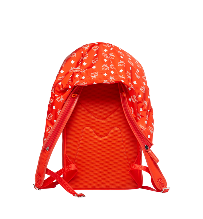MCM Luft Hoodie Backpack in Nylon Orange MMK9SNX34OX001 Alternate View 4