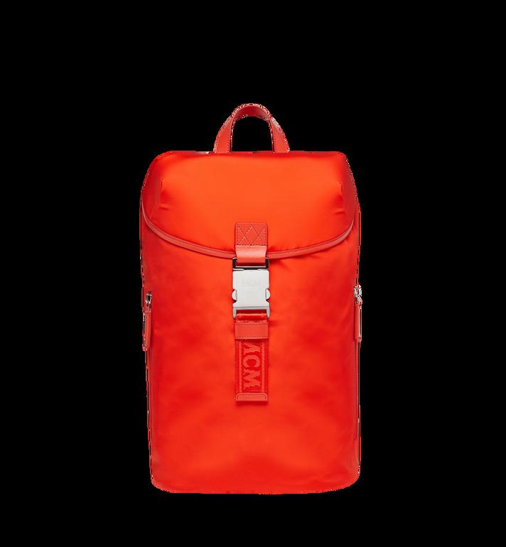 MCM Luft Hoodie Backpack in Nylon Orange MMK9SNX34OX001 Alternate View 5