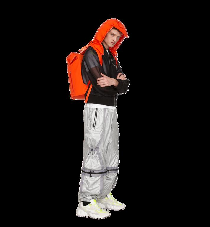 MCM Luft Hoodie Backpack in Nylon Orange MMK9SNX34OX001 Alternate View 7