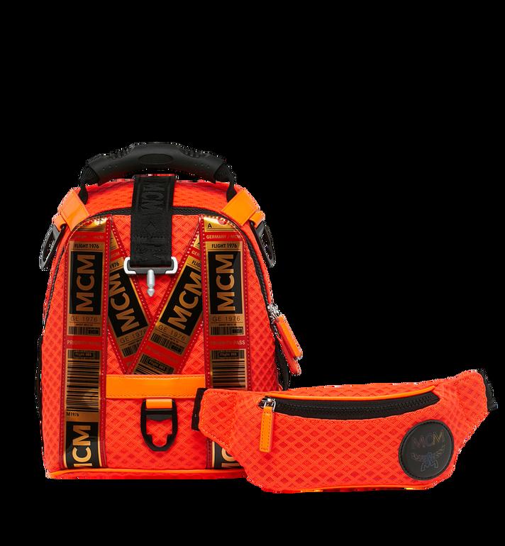 MCM 루프트 컬렉션 포 피띠워모 투인원 메쉬 백팩 Orange MMK9SNX72OW001 Alternate View 6
