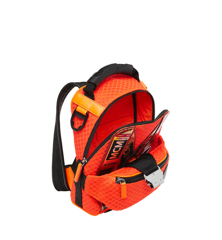 MCM 루프트 컬렉션 포 피띠워모 투인원 메쉬 백팩 Orange MMK9SNX72OW001 Alternate View 8