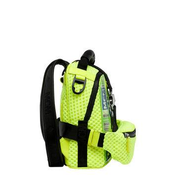 MCM Jemison 2-in-1 Backpack in Mesh Yellow MMK9SNX72YN001 Alternate View 3
