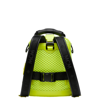 MCM Jemison 2-in-1 Backpack in Mesh Yellow MMK9SNX72YN001 Alternate View 4