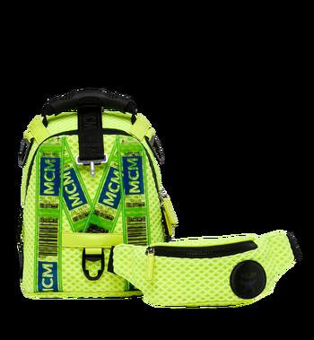 MCM Jemison 2-in-1 Backpack in Mesh Yellow MMK9SNX72YN001 Alternate View 6