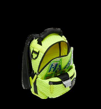 MCM Jemison 2-in-1 Backpack in Mesh Yellow MMK9SNX72YN001 Alternate View 8