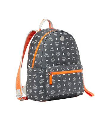 MCM Resnick Backpack in White Logo Nylon Alternate View 2