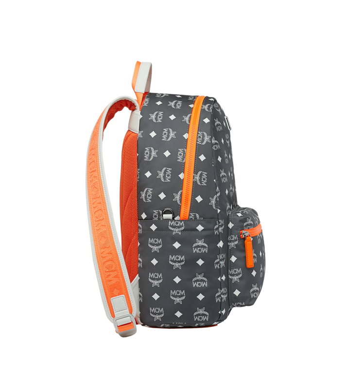 MCM Resnick Backpack in White Logo Nylon Alternate View 3