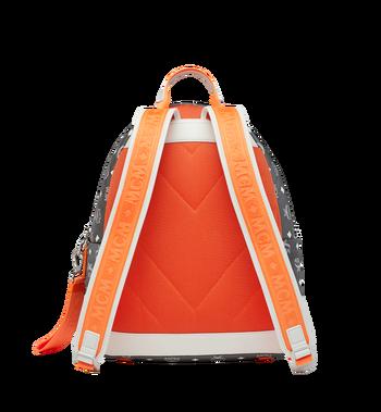 MCM Resnick Backpack in White Logo Nylon Alternate View 4