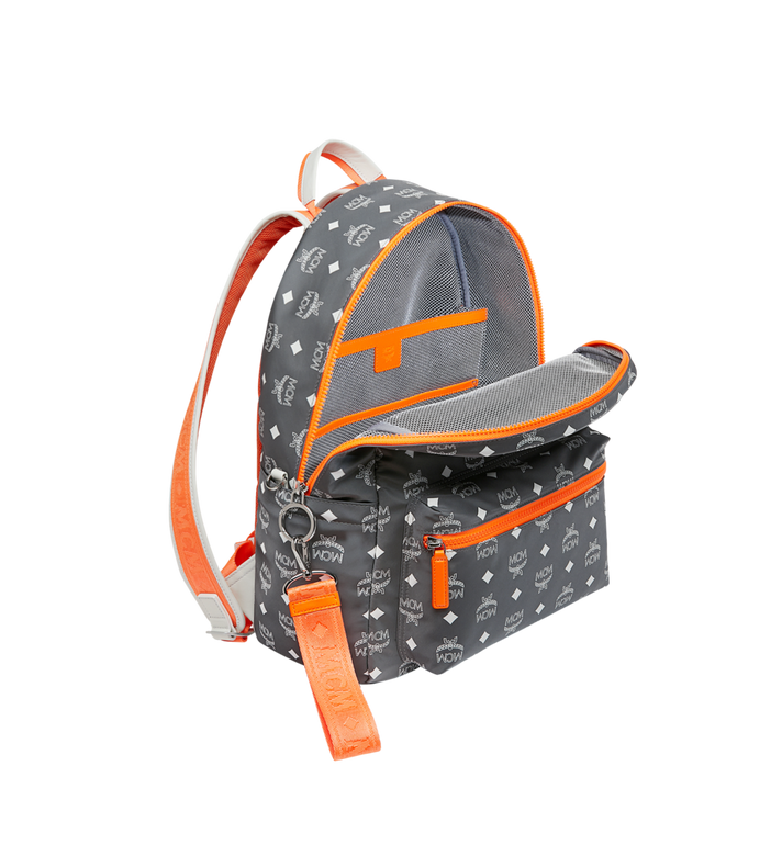 MCM Resnick Backpack in White Logo Nylon Alternate View 5