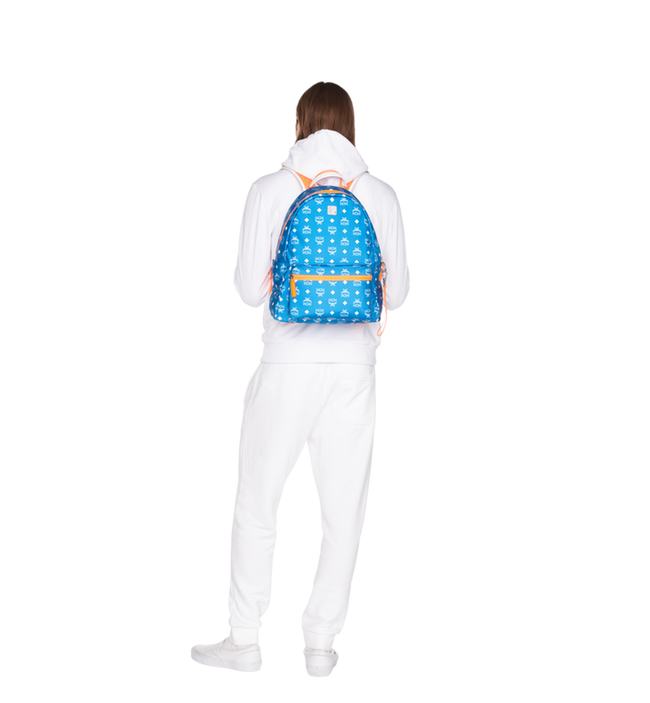 MCM Resnick Backpack in White Logo Nylon Alternate View 6