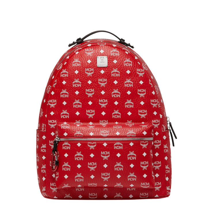 MCM Stark Backpack in White Logo Visetos AlternateView