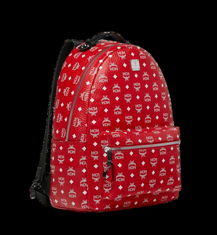 MCM Stark Backpack in White Logo Visetos AlternateView2