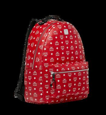MCM Stark Backpack in White Logo Visetos MMK9SVE06AV001 AlternateView2