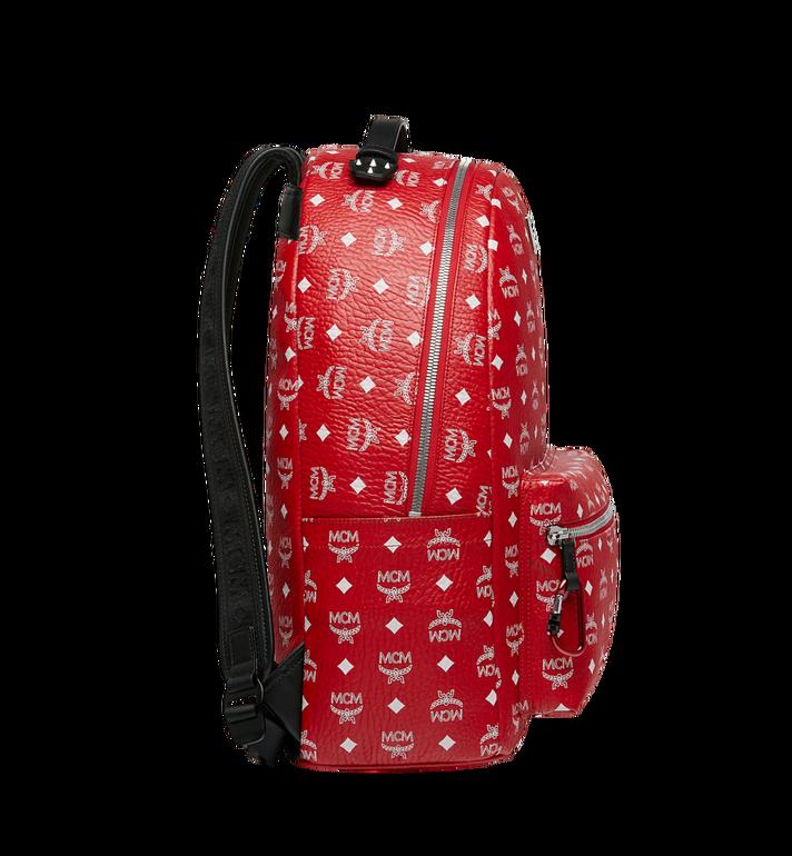 MCM Stark Backpack in White Logo Visetos AlternateView3