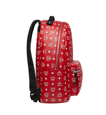 MCM Stark Backpack in White Logo Visetos Alternate View 3