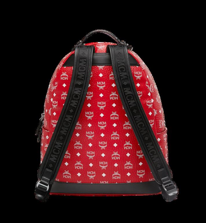 MCM Stark Backpack in White Logo Visetos AlternateView4
