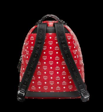 MCM Stark Backpack in White Logo Visetos MMK9SVE06AV001 AlternateView4