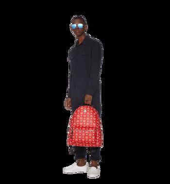 MCM Stark Backpack in White Logo Visetos Alternate View 7