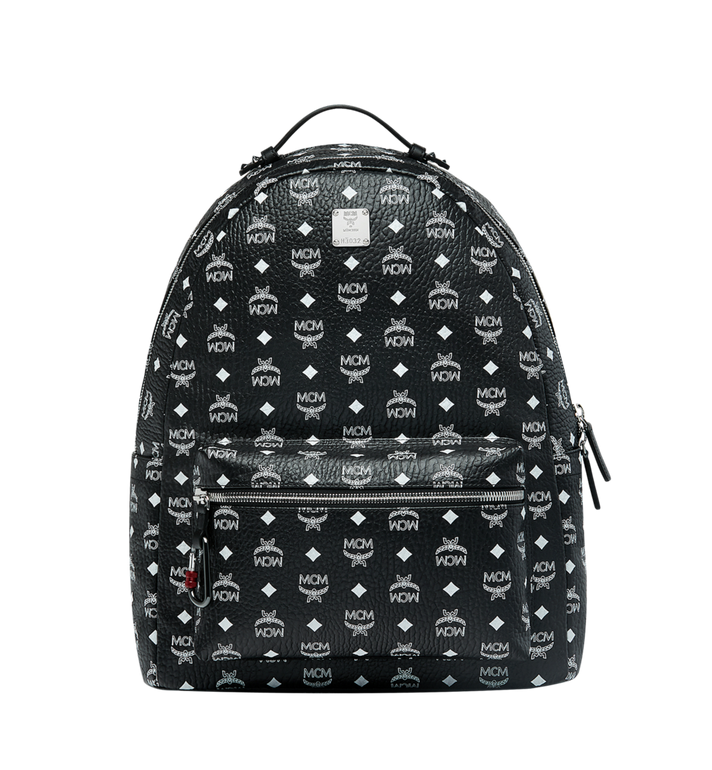 MCM Stark Backpack in White Logo Visetos Alternate View 1