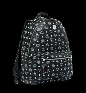 MCM Stark Backpack in White Logo Visetos MMK9SVE06BV001 AlternateView2