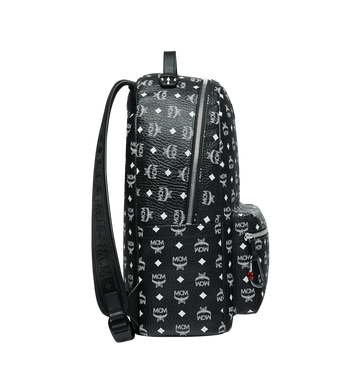 MCM Stark Backpack in White Logo Visetos Alternate View 3
