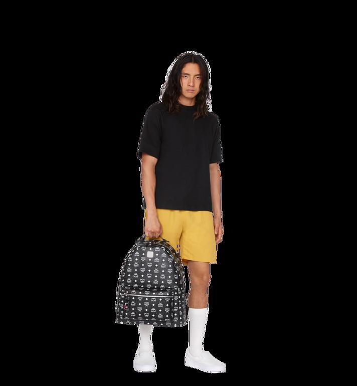 MCM Stark Backpack in White Logo Visetos MMK9SVE06BV001 AlternateView8