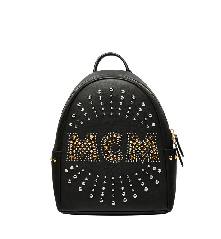 MCM Stark Backpack in Radial Stud Leather AlternateView1