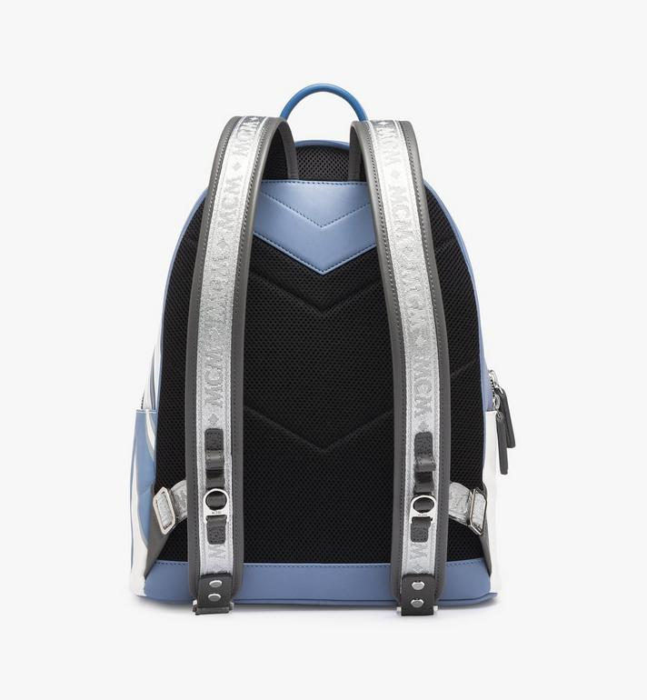 MCM Stark Backpack in Contrast Logo Leather Grey MMK9SVE12HH001 Alternate View 3