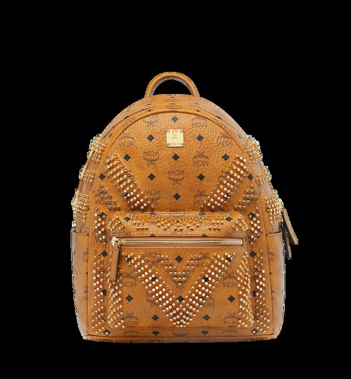 MCM Stark Backpack in Graded M Studs Visetos Alternate View