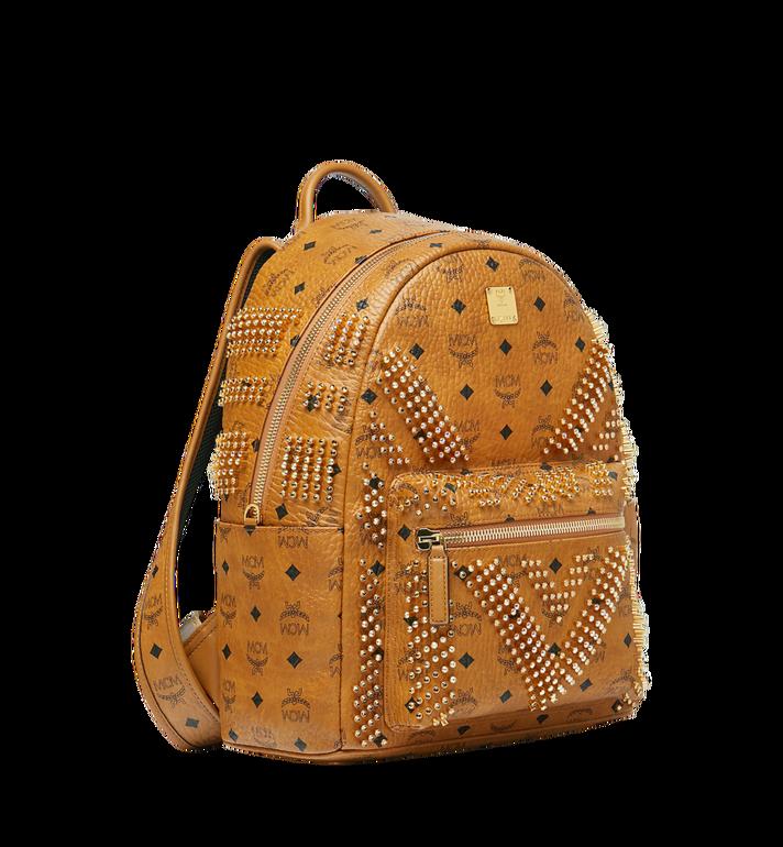 MCM Stark Backpack in Graded M Studs Visetos Cognac MMK9SVE20CO001 Alternate View 2