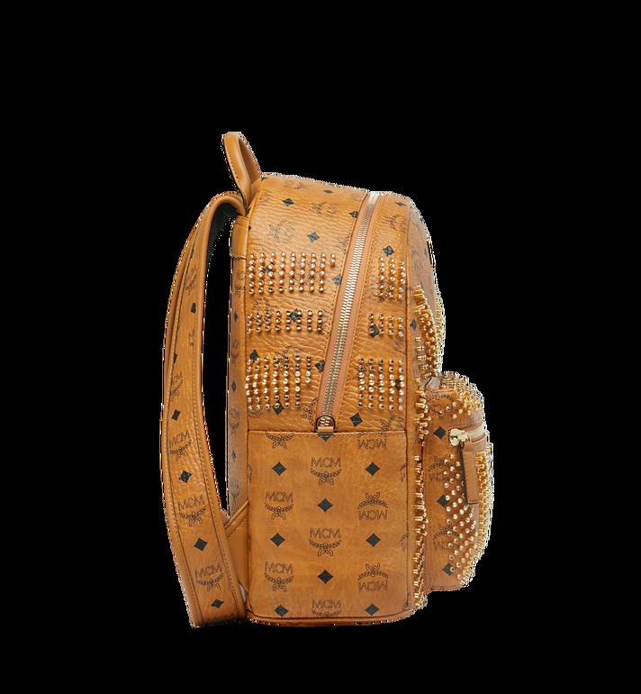 MCM Stark Backpack in Graded M Studs Visetos Cognac MMK9SVE20CO001 Alternate View 3
