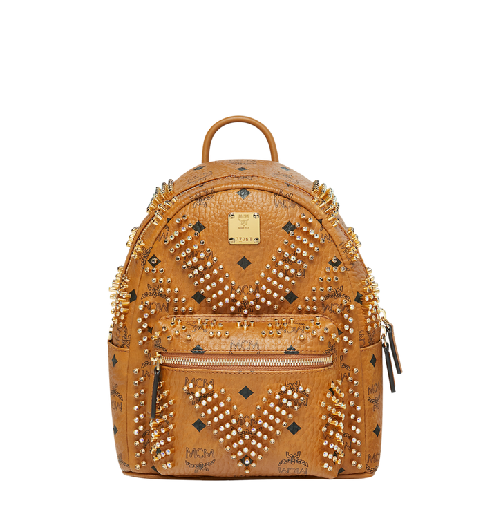 MCM Stark Backpack in Graded M Studs Visetos Alternate View