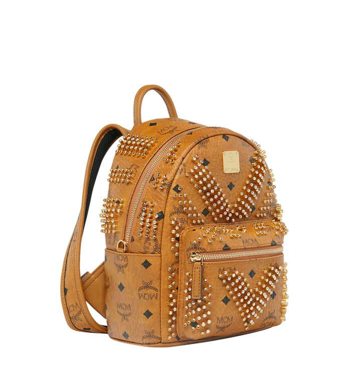 MCM Stark Backpack in Graded M Studs Visetos Cognac MMK9SVE21CO001 Alternate View 2