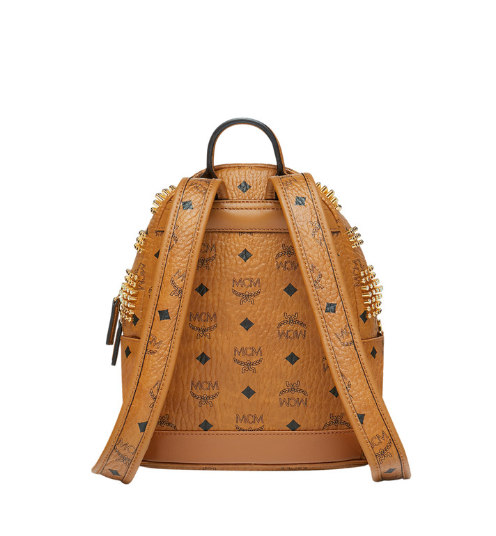 MCM Stark Backpack in Graded M Studs Visetos Cognac MMK9SVE21CO001 Alternate View 4