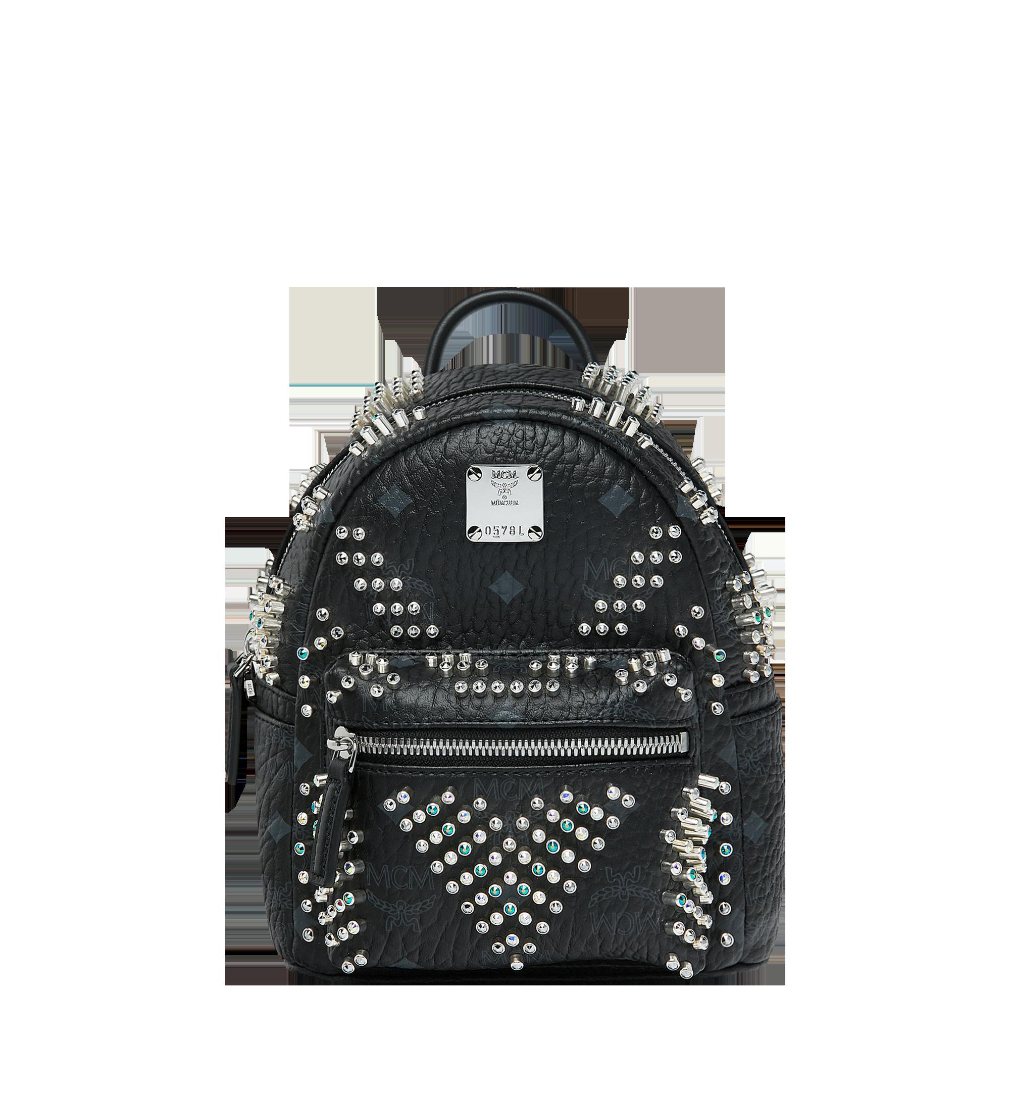 MCM Stark Bebe Boo Backpack in Graded M Studs Black MMK9SVE22BK001 Alternate View 1