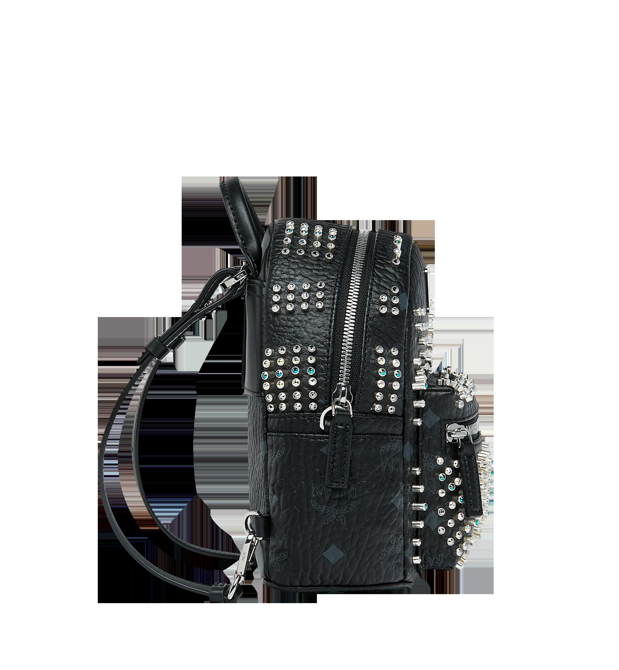MCM Stark Bebe Boo Backpack in Graded M Studs Black MMK9SVE22BK001 Alternate View 4