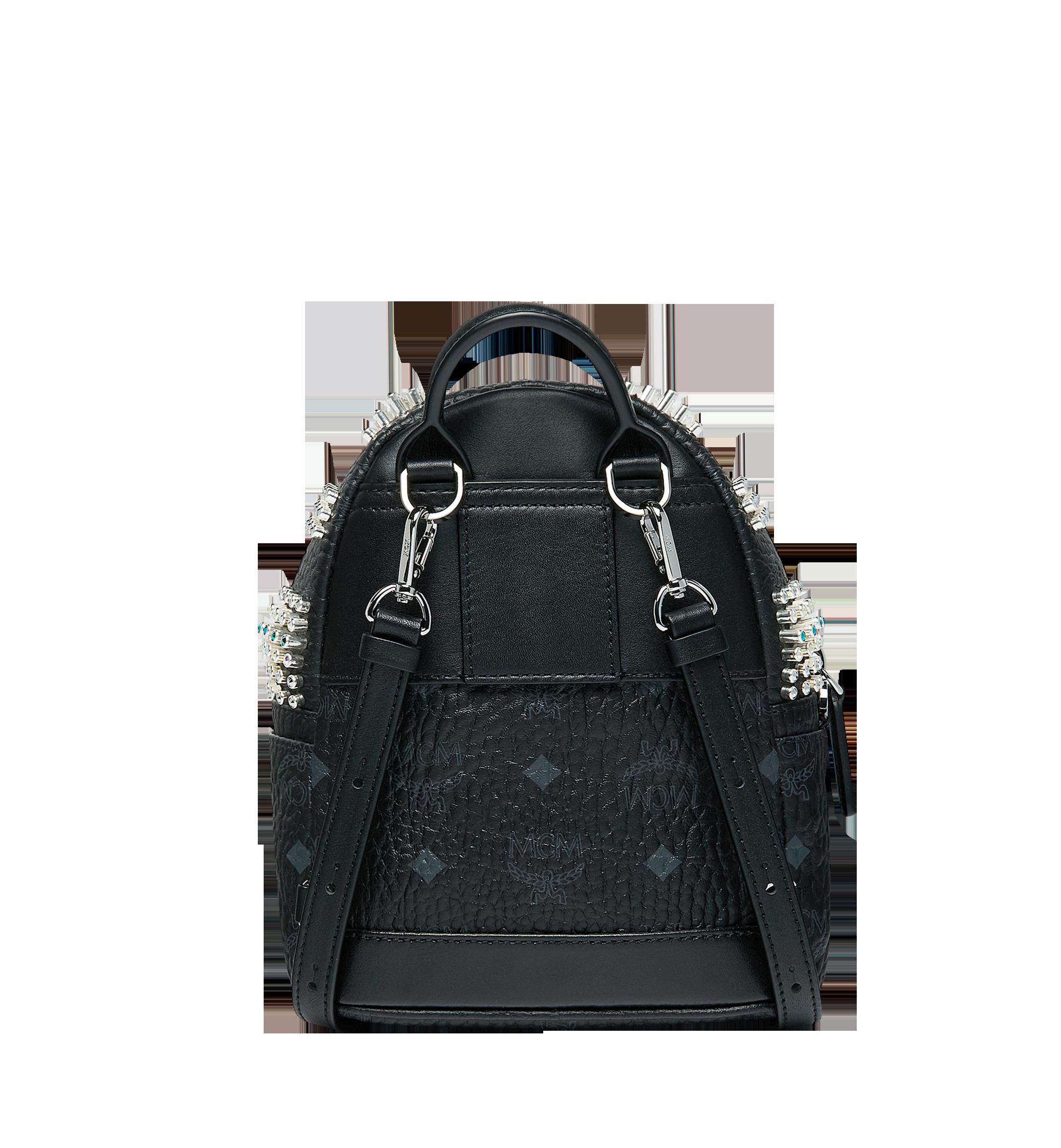 MCM Stark Bebe Boo Backpack in Graded M Studs Black MMK9SVE22BK001 Alternate View 5