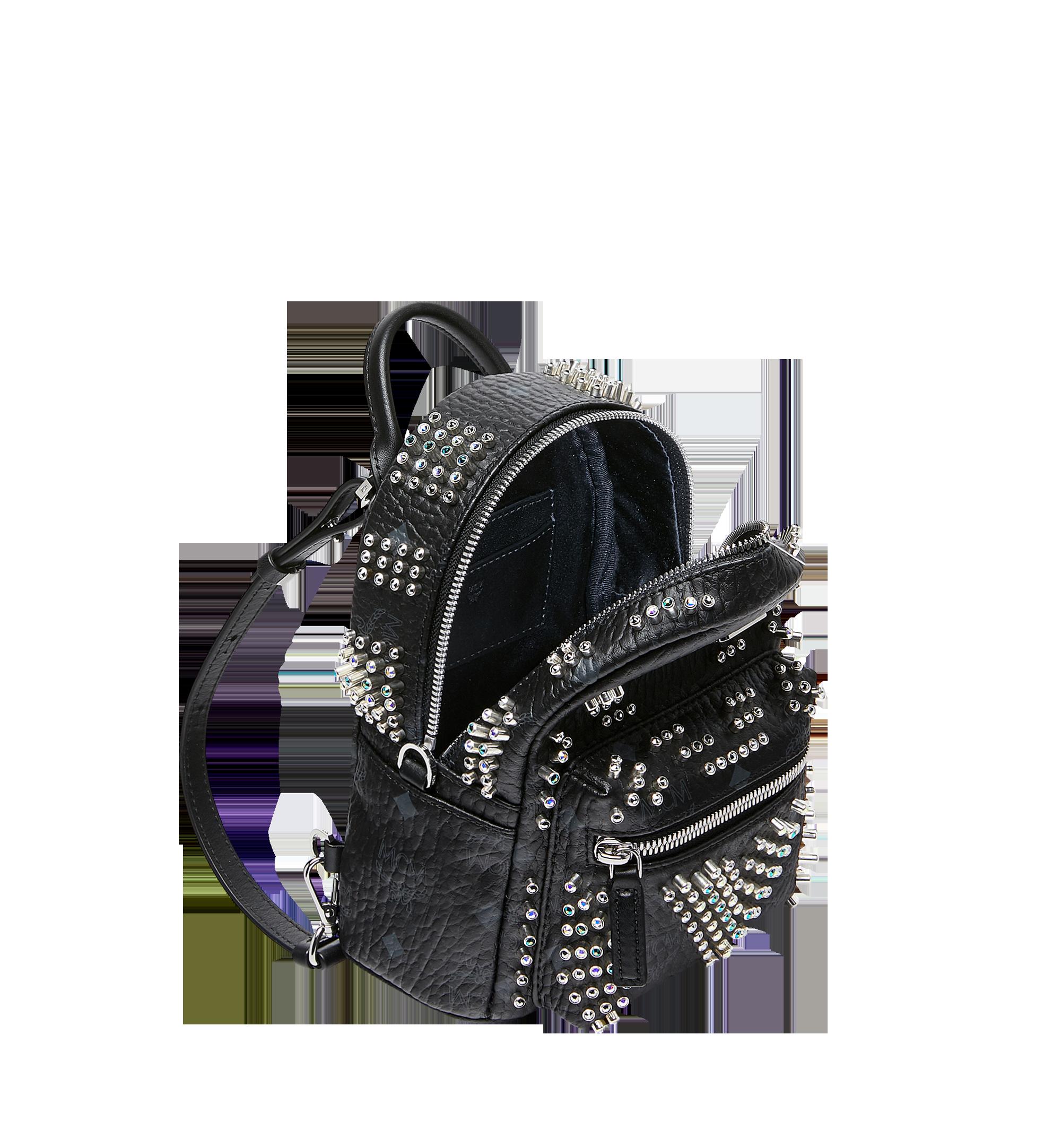 MCM Stark Bebe Boo Backpack in Graded M Studs Black MMK9SVE22BK001 Alternate View 7