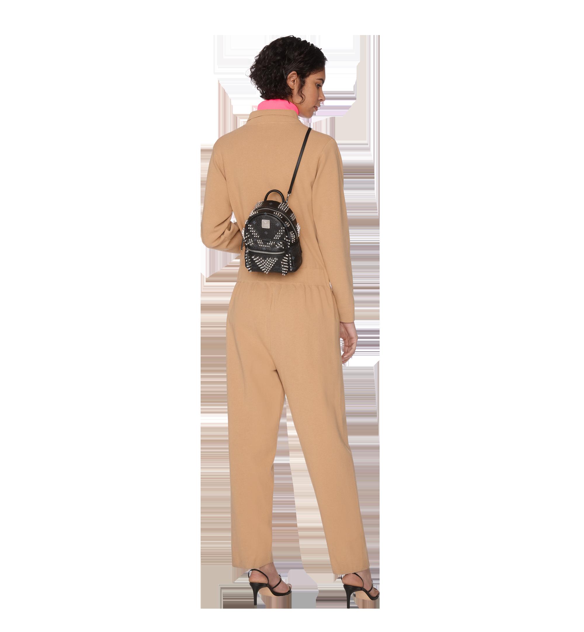 MCM Stark Bebe Boo Backpack in Graded M Studs Black MMK9SVE22BK001 Alternate View 9