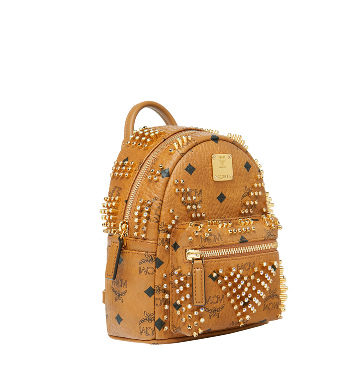 MCM Stark Bebe Boo Rucksack in Graded M Studs Cognac MMK9SVE22CO001 Alternate View 2