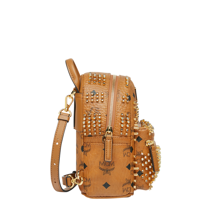 MCM Stark Bebe Boo Rucksack in Graded M Studs Cognac MMK9SVE22CO001 Alternate View 3