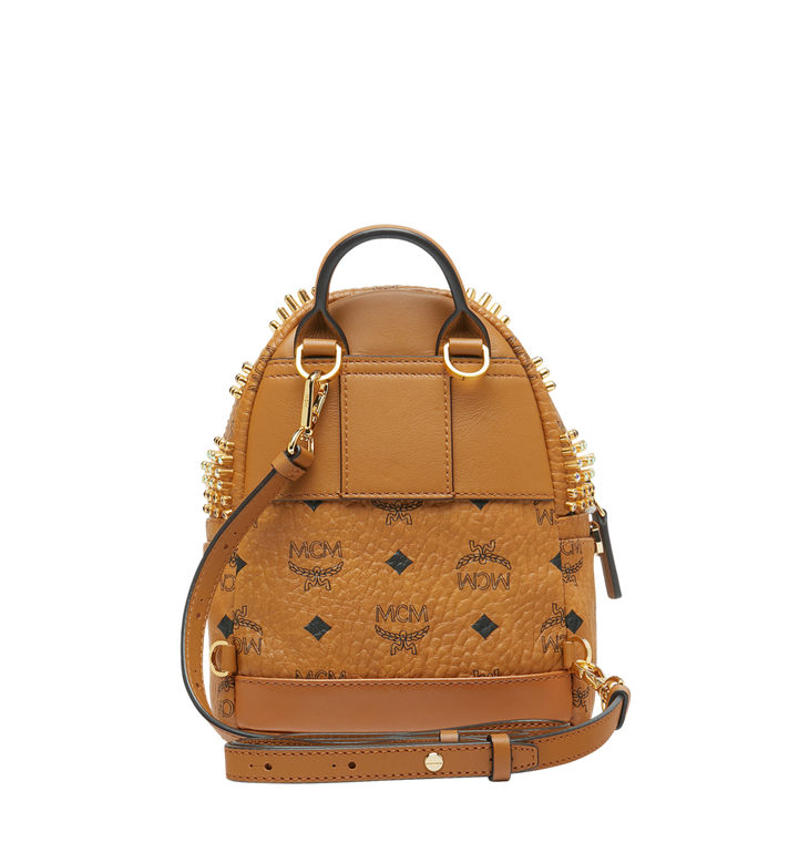 MCM Stark Bebe Boo Rucksack in Graded M Studs Cognac MMK9SVE22CO001 Alternate View 6
